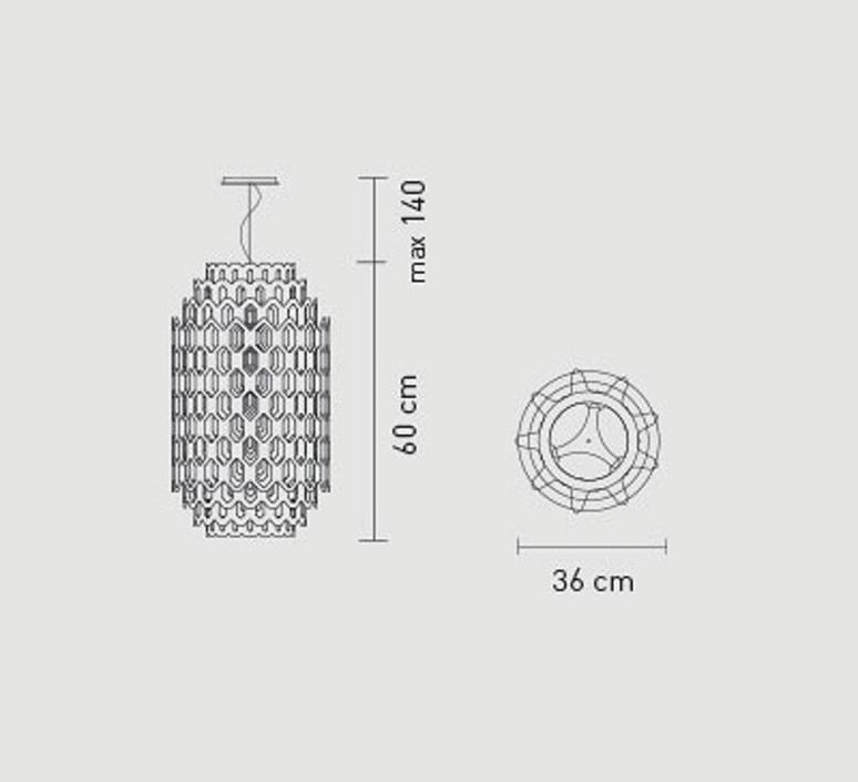 Chantal doriana massimiliano fuksas slamp chn88sos0001w 000 luminaire lighting design signed 18036 product