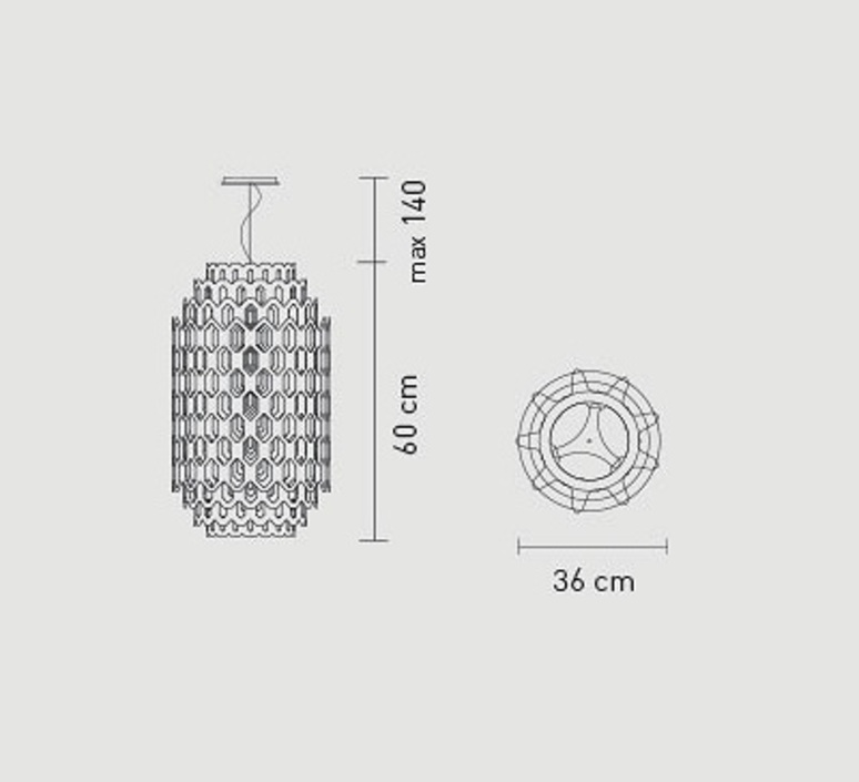 Chantal doriana massimiliano fuksas slamp chn88sos0001a 000 luminaire lighting design signed 18053 product