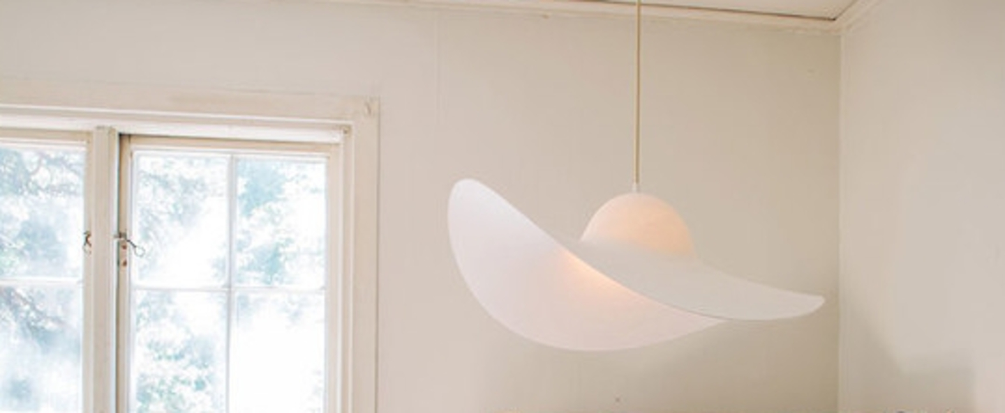 Suspension chapeau hat lamp blanc o63cm eno studio normal