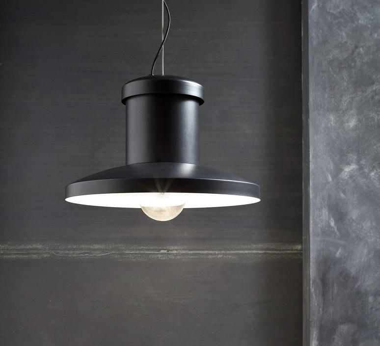 Chapeau enrico azzimonti zava chapeau suspension outside black 9005 without grid inside white 9010 luminaire lighting design signed 17564 product