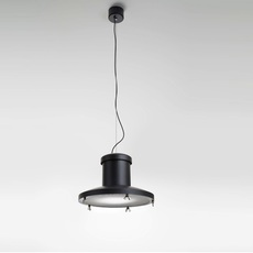 Chapeau enrico azzimonti zava chapeau suspension outside black 9005 with grid inside white 9010 luminaire lighting design signed 17562 thumb