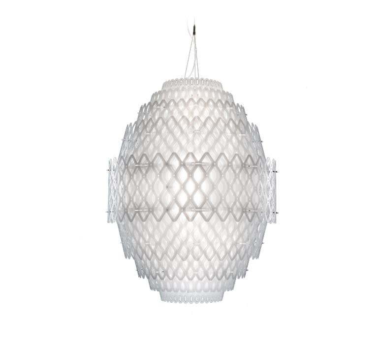 Charlotte  suspension pendant light  slamp chr88sos0004w 000  design signed 51995 product