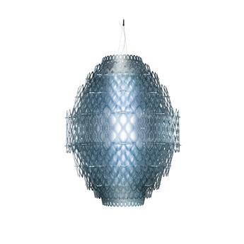 Suspension charlotte bleu led o80cm h110cm slamp normal