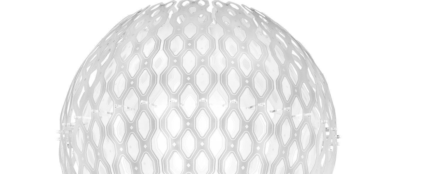 Suspension charlotte globe blanc o60cm h50cm slamp normal