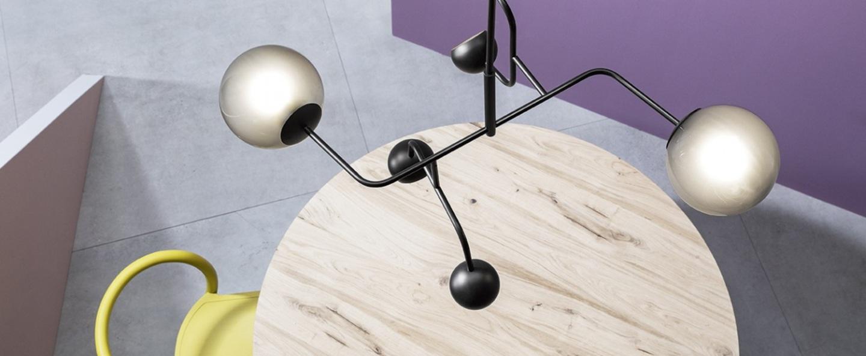 Suspension chill noir led l84cm h50cm mm lampadari normal