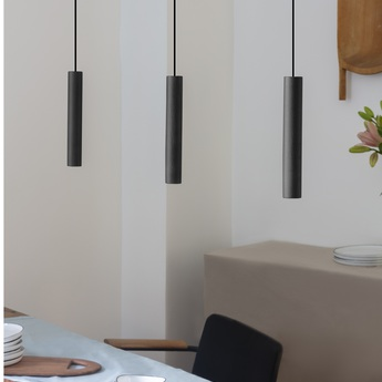 Suspension chimes noir led 3000k 220lm o3 4cm h22cm umage normal