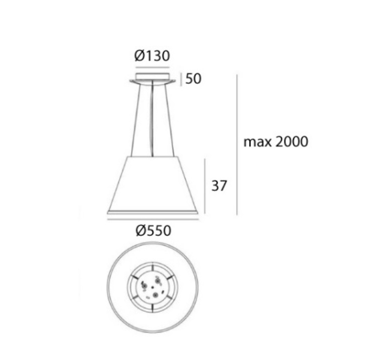 Choose mega suspension matteo thun suspension pendant light  artemide 1124110a  design signed nedgis 120289 product