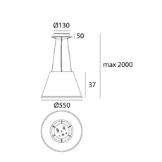 Choose mega suspension matteo thun suspension pendant light  artemide 1124110a  design signed nedgis 120289 thumb