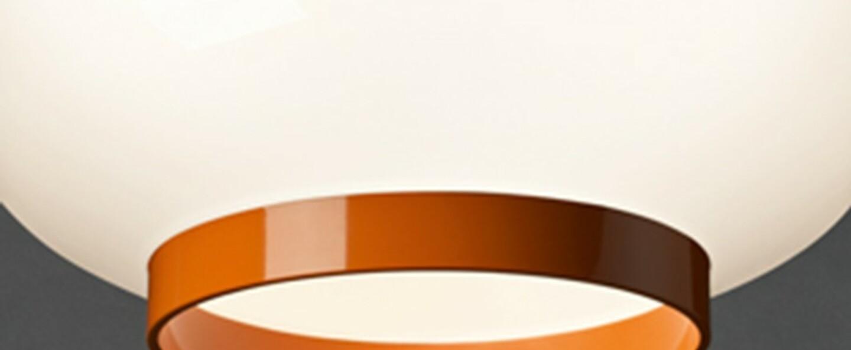Suspension chouchin 1 reverse orange led dimmable 2700k 2500lm o40cm h31cm foscarini normal