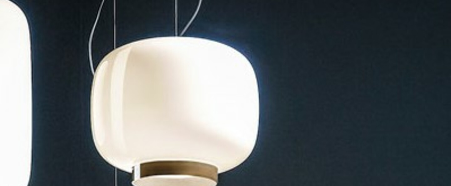 Suspension chouchin 3 reverse gris led dimmable 2700k 2500lm o40cm h25cm foscarini normal