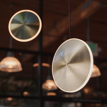 Suspension chronalights dish 10v acier led 2700k 500lm o24cm h6cm graypants normal