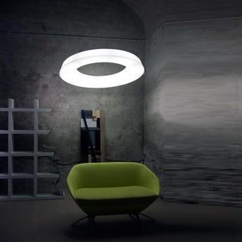 Suspension circular pol blanc led a variation o90cm h14cm martinelli luce 4edf233c 5184 4c0d 9d83 fe4fe5c5413a normal