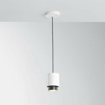 Suspension claque blanc ip40 led 3000k 1700lm o10cm h13 5cm fabbian normal
