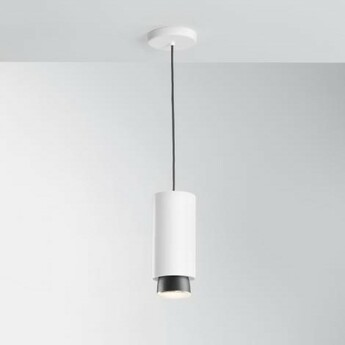 Suspension claque blanc ip40 led 3000k 1700lm o10cm h23 5cm fabbian normal
