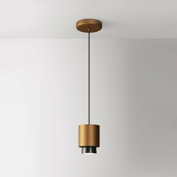 Suspension claque bronze ip40 led 3000k 1700lm o10cm h13 5cm fabbian normal