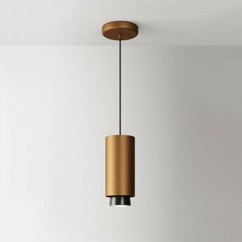 Suspension claque bronze ip40 led 3000k 1700lm o10cm h23 5cm fabbian normal