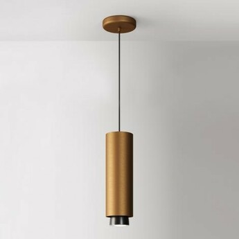Suspension claque bronze ip40 led 3000k 1700lm o10cm h33 5cm fabbian normal