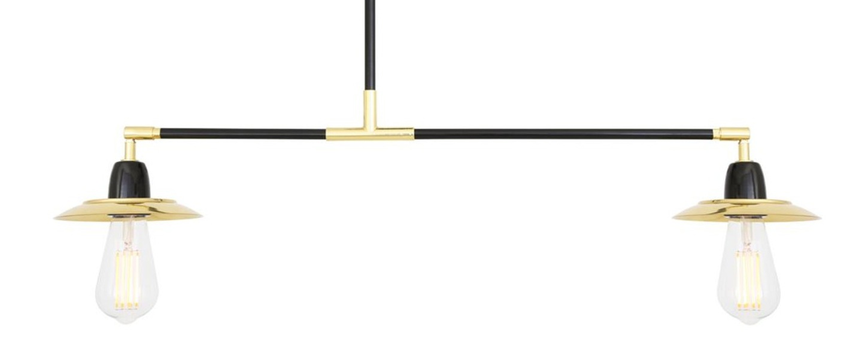 Suspension clareen noir et or l25cm h32cm mullan lighting normal
