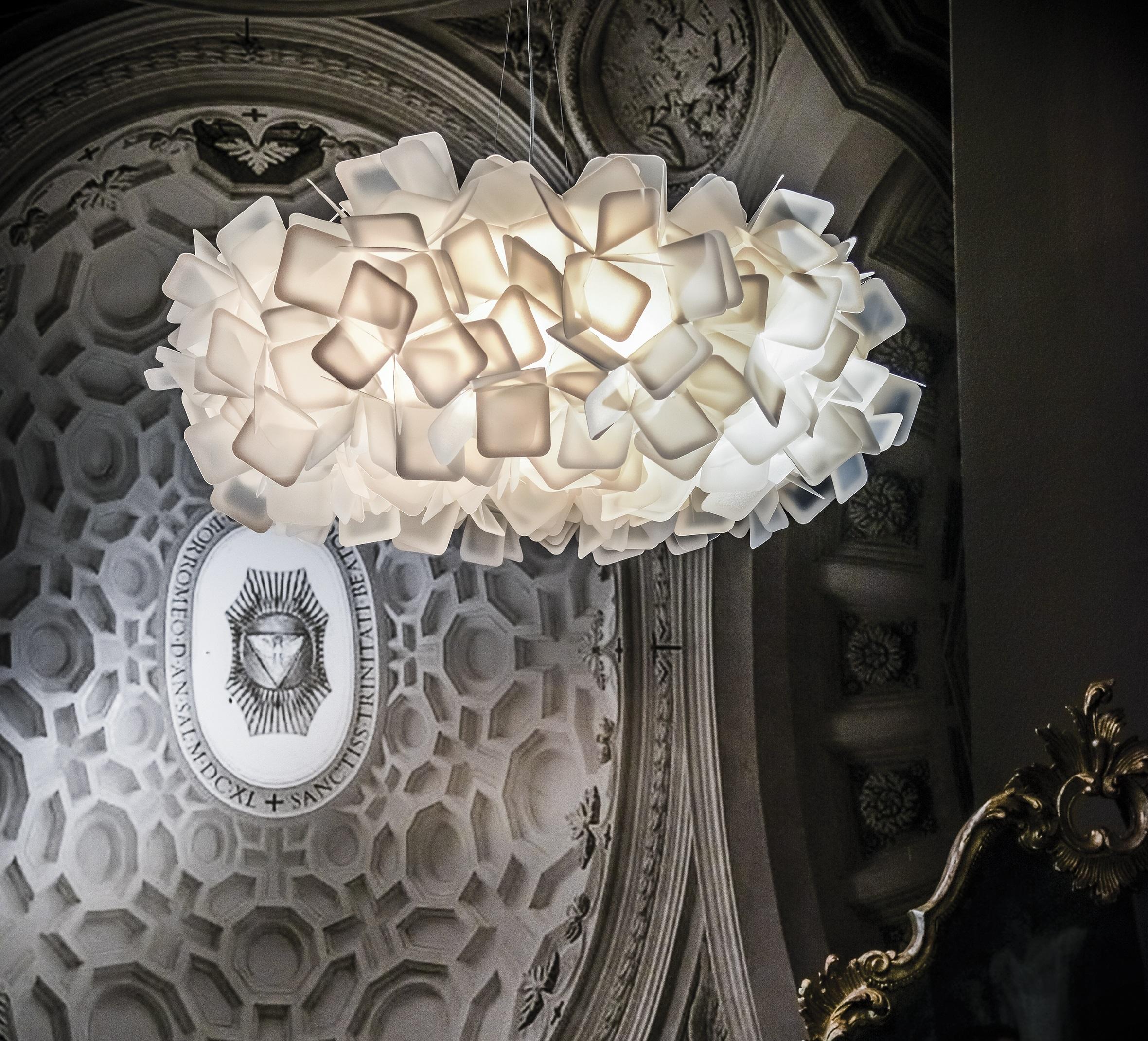 suspension clizia blanc 78cm slamp luminaires nedgis. Black Bedroom Furniture Sets. Home Design Ideas