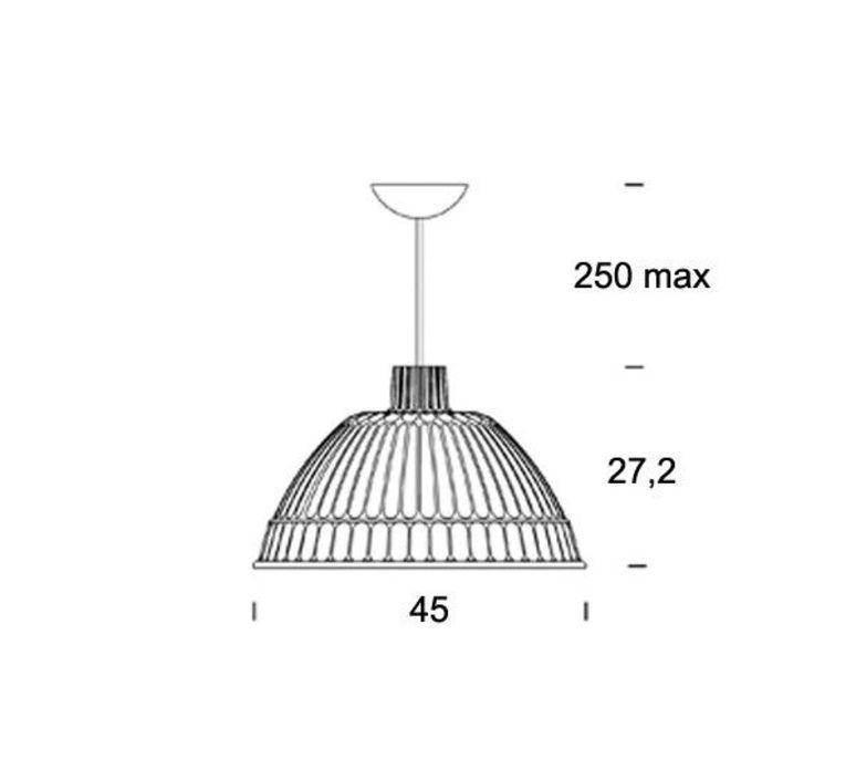 Cloche ufficio tecnico fontanaarte 4260bi tr luminaire lighting design signed 19795 product