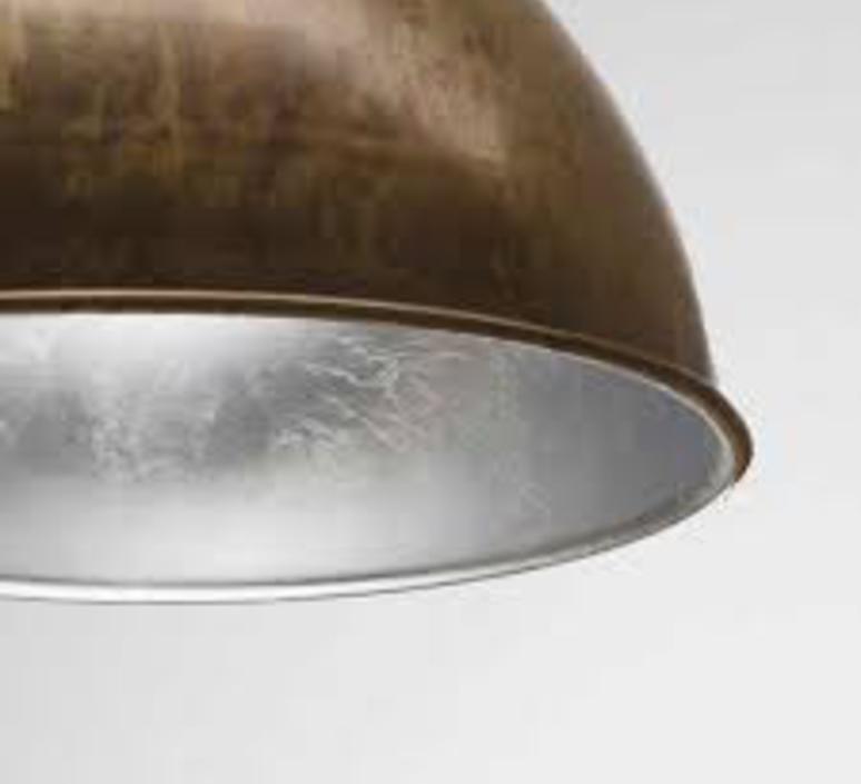 Suspension cloche galileo metal vieilli interieur feuille d argant o60cm h40cm il fanale 58534 product