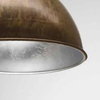 Suspension cloche galileo metal vieilli interieur feuille d argant o60cm h40cm il fanale normal