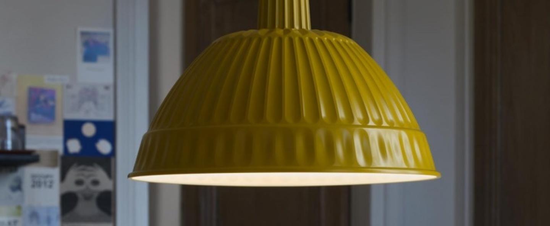 Suspension cloche moutarde o45cm fontanaarte normal