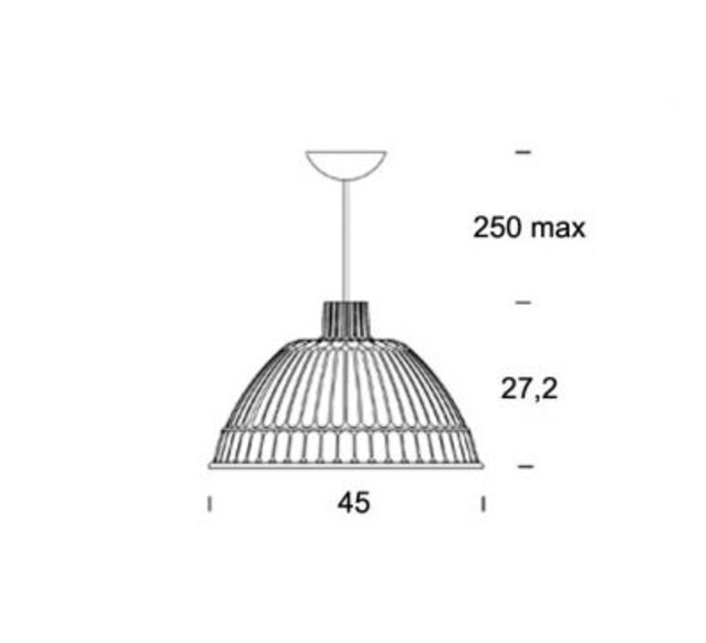 Cloche ufficio tecnico fontanaarte 4260gi luminaire lighting design signed 13532 product