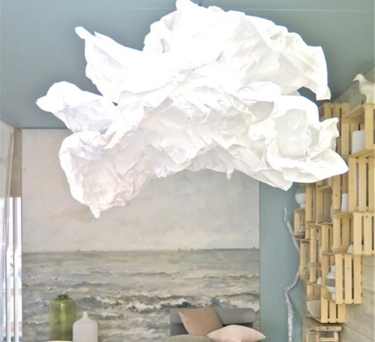 suspension cloud nuage blanc 150cm proplamp luminaires nedgis. Black Bedroom Furniture Sets. Home Design Ideas