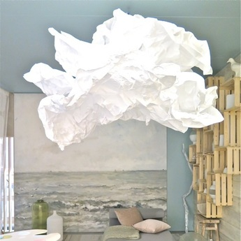 Suspension cloud nuage blanc o150cm proplamp normal