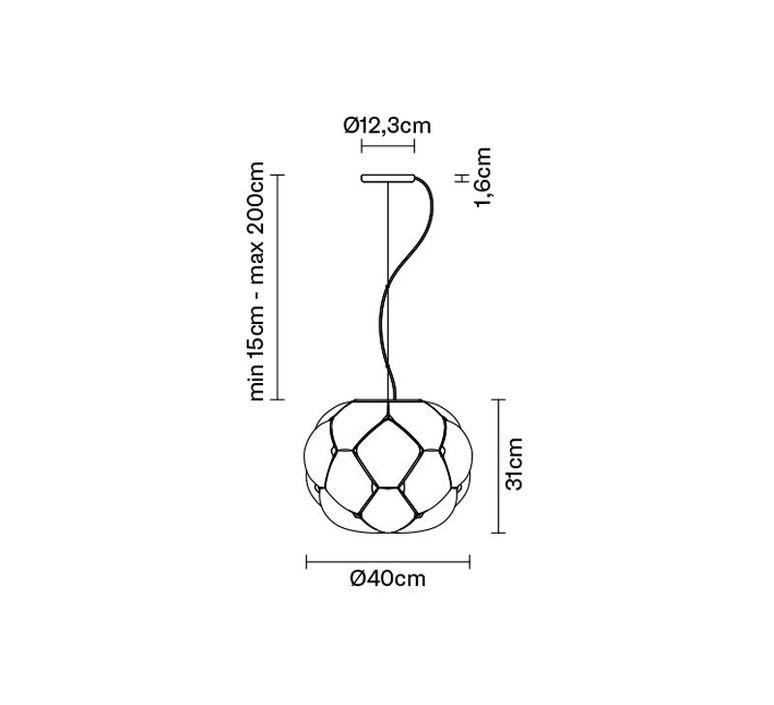 Cloudy f21 mathieu lehanneur suspension pendant light  fabbian f21a05  design signed 39841 product