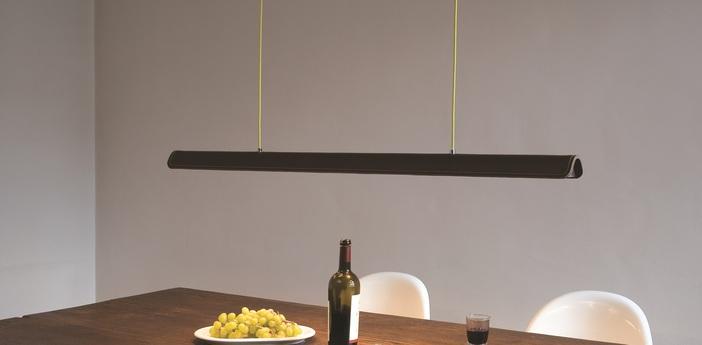 Suspension cohiba cuir marron l123cm formagenda normal