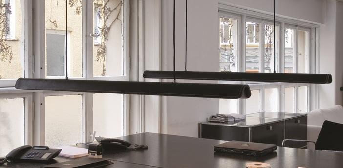 Suspension cohiba cuir noir l123cm formagenda normal
