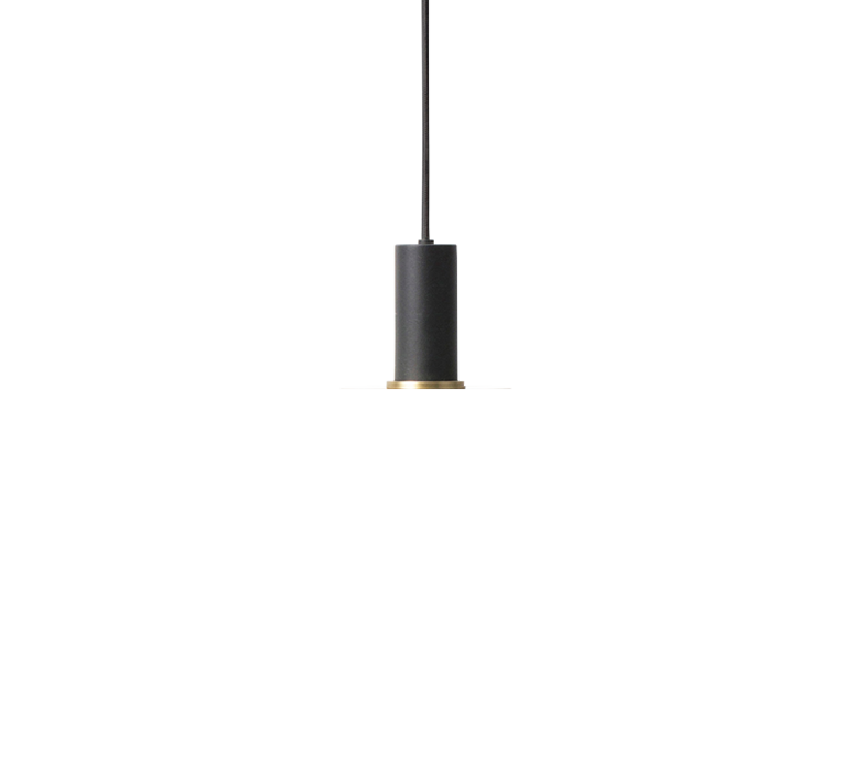 Collect lighting brass and disc shade  suspension pendant light  ferm living 5107 5126  design signed 41039 product