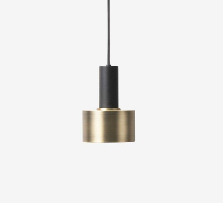 Collect lighting brass and disc shade  suspension pendant light  ferm living 5107 5126  design signed 41040 product