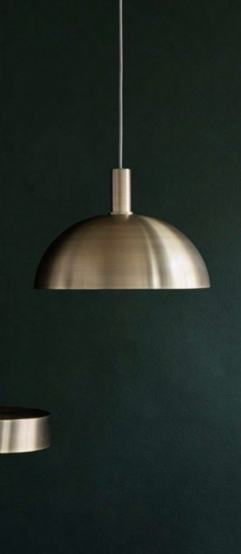 Suspension collect lighting brass and dome shade laiton led o38cm h26 2cm ferm living normal