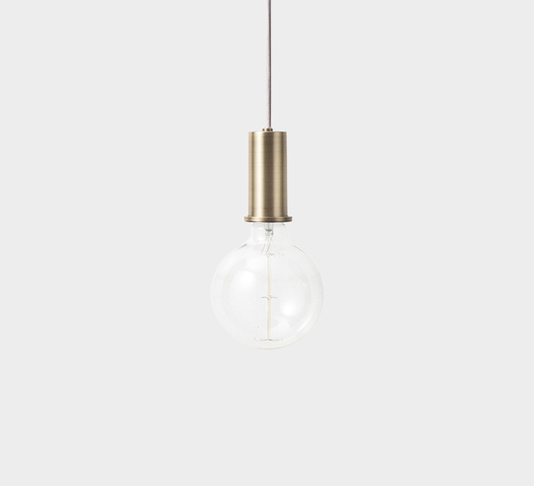 Collect lighting brass and dome shade  suspension pendant light  ferm living 5106 5142  design signed 37136 product