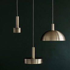 Collect lighting brass and record shade  suspension pendant light  ferm living 5107 5145  design signed 37139 thumb