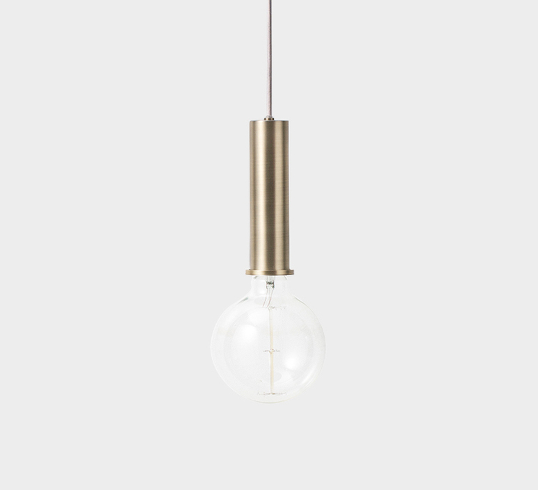 Collect lighting brass and record shade  suspension pendant light  ferm living 5107 5145  design signed 37140 product