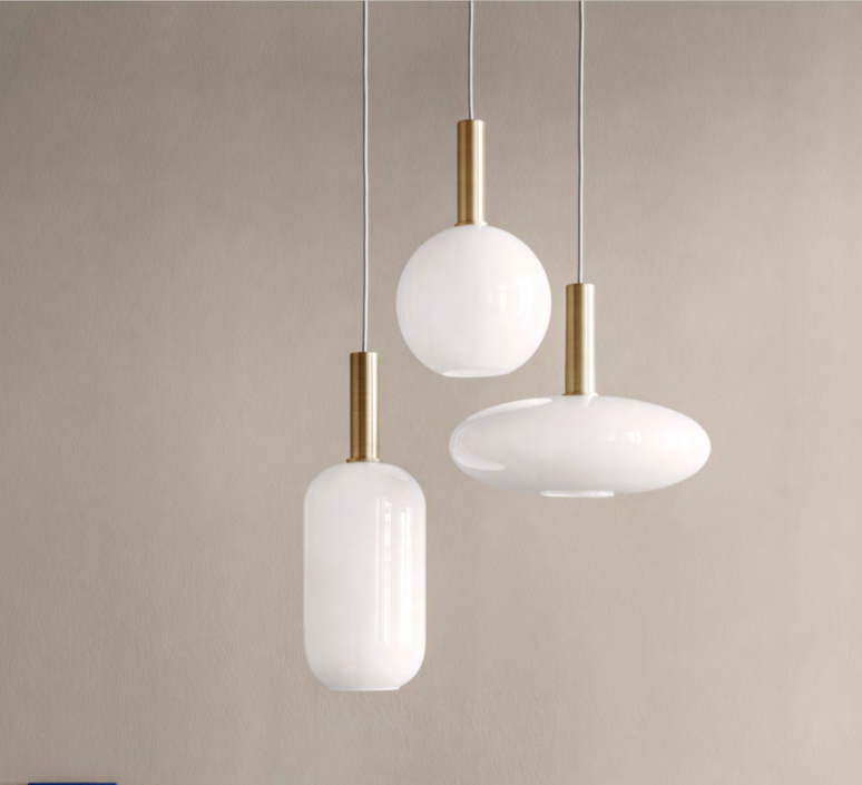 Collect lighting brass and tall  suspension pendant light  ferm living 5107 5149  design signed 77383 product