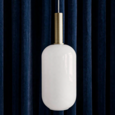 Collect lighting brass and tall  suspension pendant light  ferm living 5107 5149  design signed 77395 thumb