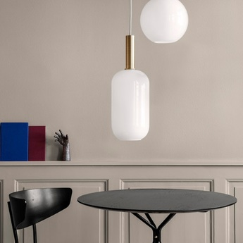 Suspension collect lighting brass and tall blanc or led o18 6cm h51 2cm ferm living normal
