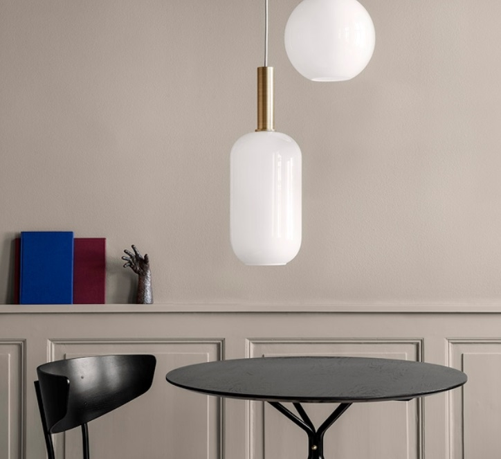 Pendant Light Collect Lighting Brass And Tall White