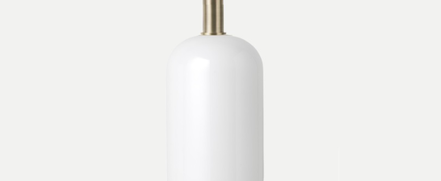 Suspension collect lighting brass and tall opal laiton led o18 6cm h44 2cm ferm living normal