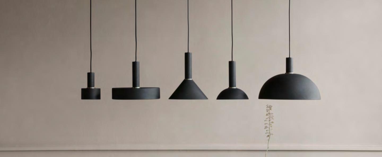 Suspension collect lighting cone shade noir led o25cm h12cm ferm living normal