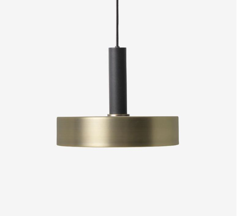 Collect lighting brass and disc shade  suspension pendant light  ferm living 5107 5126  design signed 40778 product