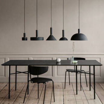 Suspension collect lighting disc shade noir led o12cm h7cm ferm living normal