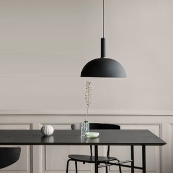 Suspension collect lighting dome shade noir led o38cm h33cm ferm living normal