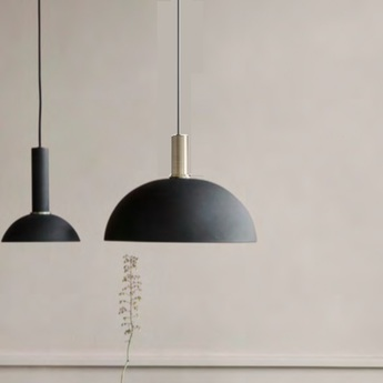 Suspension collect lighting dome shade noir socket low laiton o38cm h16cm ferm living normal