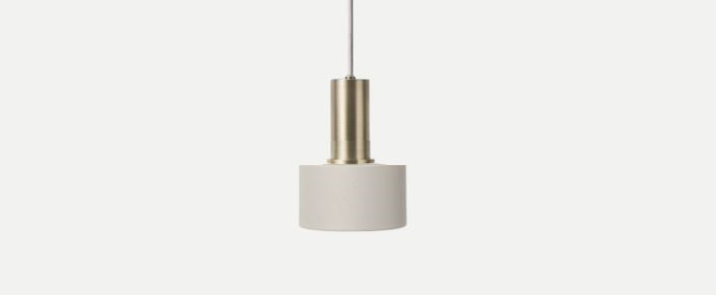 Suspension collect lighting gris clair disc shade socket laiton led o12cm h17cm ferm living copy of 5704723008187 normal